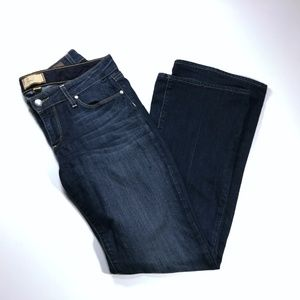 Paige Jeans Boot Cut Dark Wash Stretch Size 28